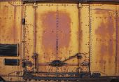 Vintage Rusty Metal Train Car Door