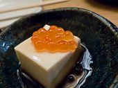 Japanese Beancurd With Salmon Roe