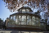 Crystal Palace in the Retiro park Madrid, Spain
