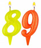 Birthday Candles Number Eighty Nine
