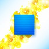 Bright blue summer poster on a shiny cheerful background with pl