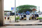 Pedestrian crossing, Galle, Sri Lanka