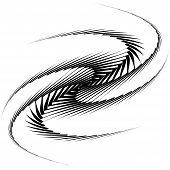 Design Monochrome Whirl Movement Octopus Background