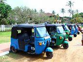 Parking tuk-tuk, the district Koggala, Sri Lanka