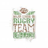 Campus Rugby Team Print