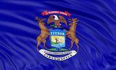 3D Michigan Flag