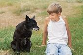 Teenage boy and his animal friend