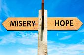 Misery versus Hope messages