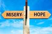 Misery versus Hope messages