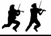 Violinist jump