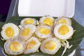 Fried Quail Eggs In Asia Market