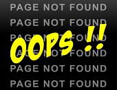 stock photo of not found  - illustration of funny page not found web site background - JPG