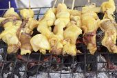 B-b-q Grilled Squid In The Market