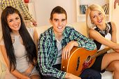 Young Guitarist With Hot Girls