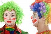 Pair Of Serious Clowns