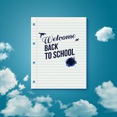 Welcome back to school. Motivating poster.