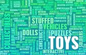 Toys Collection as a Concept Abstract Art