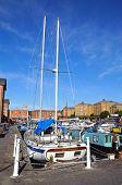 Yacht in Gloucester Docks.
