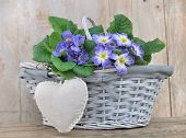 Romantic Flowers Basket