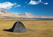 Tent In Himalayan Mountains - Near Tso Moriri Lake