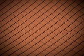 stock photo of gable-roof  - Traditional Red roof tile texture closeup background - JPG