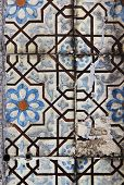 Decorative Tiles On Facade Of House, Porto, Portugal