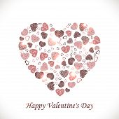 Vector heart of hearts on a white background