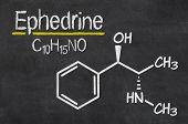 Blackboard with the chemical formula of Ephedrine