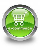 E-commerce Glossy Green Round Button