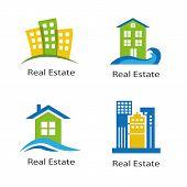 set of logos of real estate