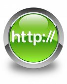 Http Glossy Green Round Button
