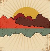 Abstract sunset .Retro background