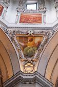 SALZBURG, AUSTRIA - DECEMBER 13: Saint Luke the Evangelist, fragment of the dome in Salzburg Cathedral on December 13, 2014 in Salzburg, Austria.