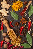 still life with spices and herbs