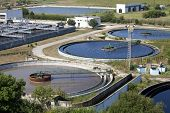 image of sewage  - Cleaning construction for a sewage treatment - JPG