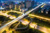 cross street of city at china.