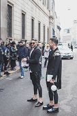 People Outside John Richmond Fashion Show Building For Milan Men's Fashion Week 2015
