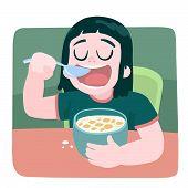 Breakfast A Little Girl