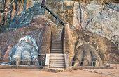 The Lions Paw Rock Entrance At Sigiriya, Sri Lanka