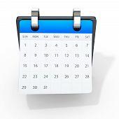 3D Detailed Binder Calendar