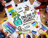 Online Security Protection Internet Safety Design Meeting Concept