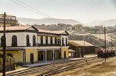 MOLLENDO, PERU, MAY 20, 2014: Old train station