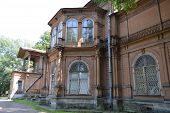 Old Wooden Abandoned Buildind, Manor Gromov.