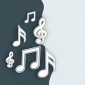 Musical notes on stylish background.