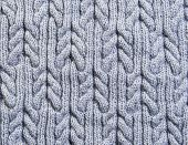 Gray Background Knitted Fabric