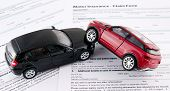 Motor Insurance Claim Form. Car Crash And Protection Concept