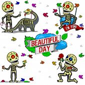 Funny Skeletons. Beautiful Day.
