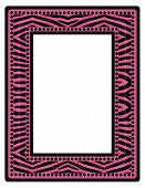 Pink and Black Zebra Frame