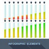 Progress, Infographics, Statistics With Interest