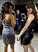 Women Attracting Attention at Nightclub